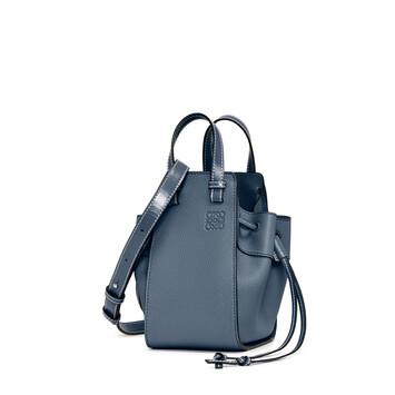 LOEWE Hammock Drawstring Mini Bag Steel Blue front
