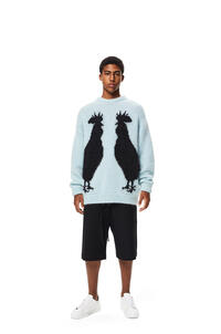LOEWE Rooster sweater in mohair Light Blue/Black pdp_rd