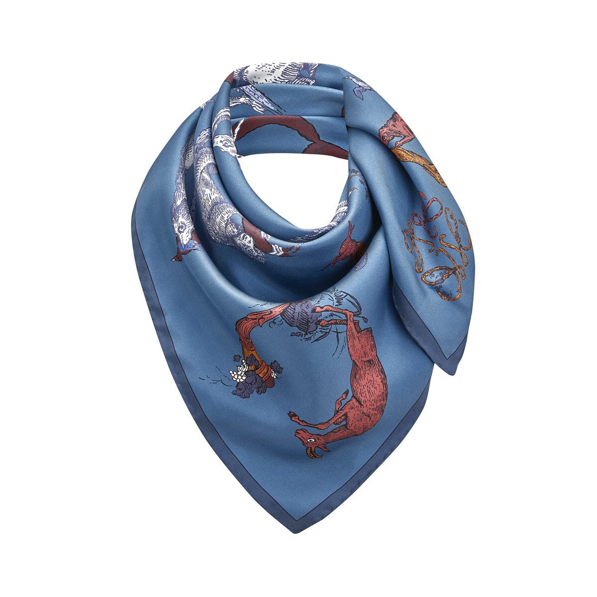 LOEWE 90X90 Scarf Alphabet Blue front