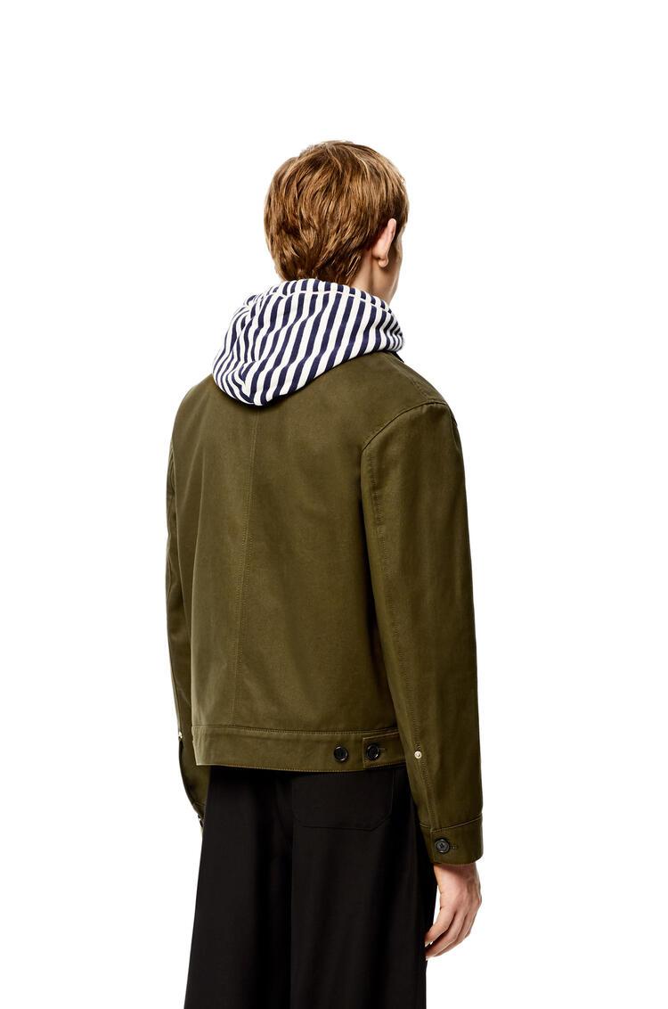 LOEWE Short workwear jacket in cotton Khaki Green pdp_rd