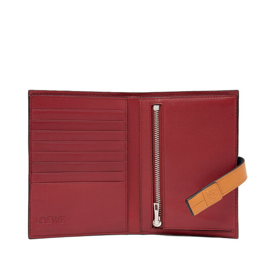 LOEWE Medium Vertical Wallet Varsity Blue/Honey all