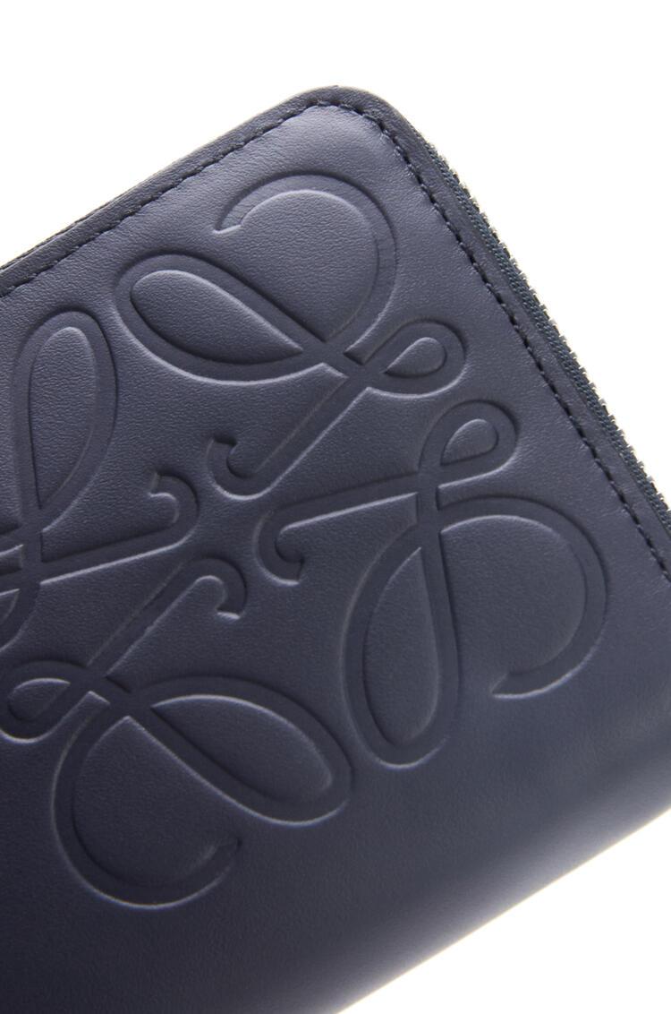 LOEWE Brand zip six card holder in smooth calfskin Midnight Blue pdp_rd