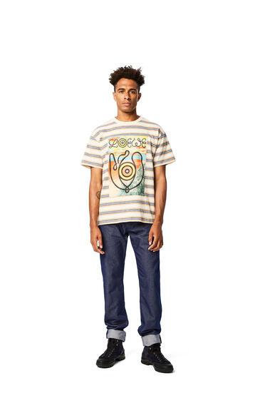 LOEWE T-shirt In Striped Cotton Blue/Orange pdp_rd