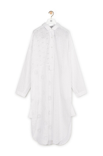 LOEWE Shirtdress Broderie Anglaise ホワイト front