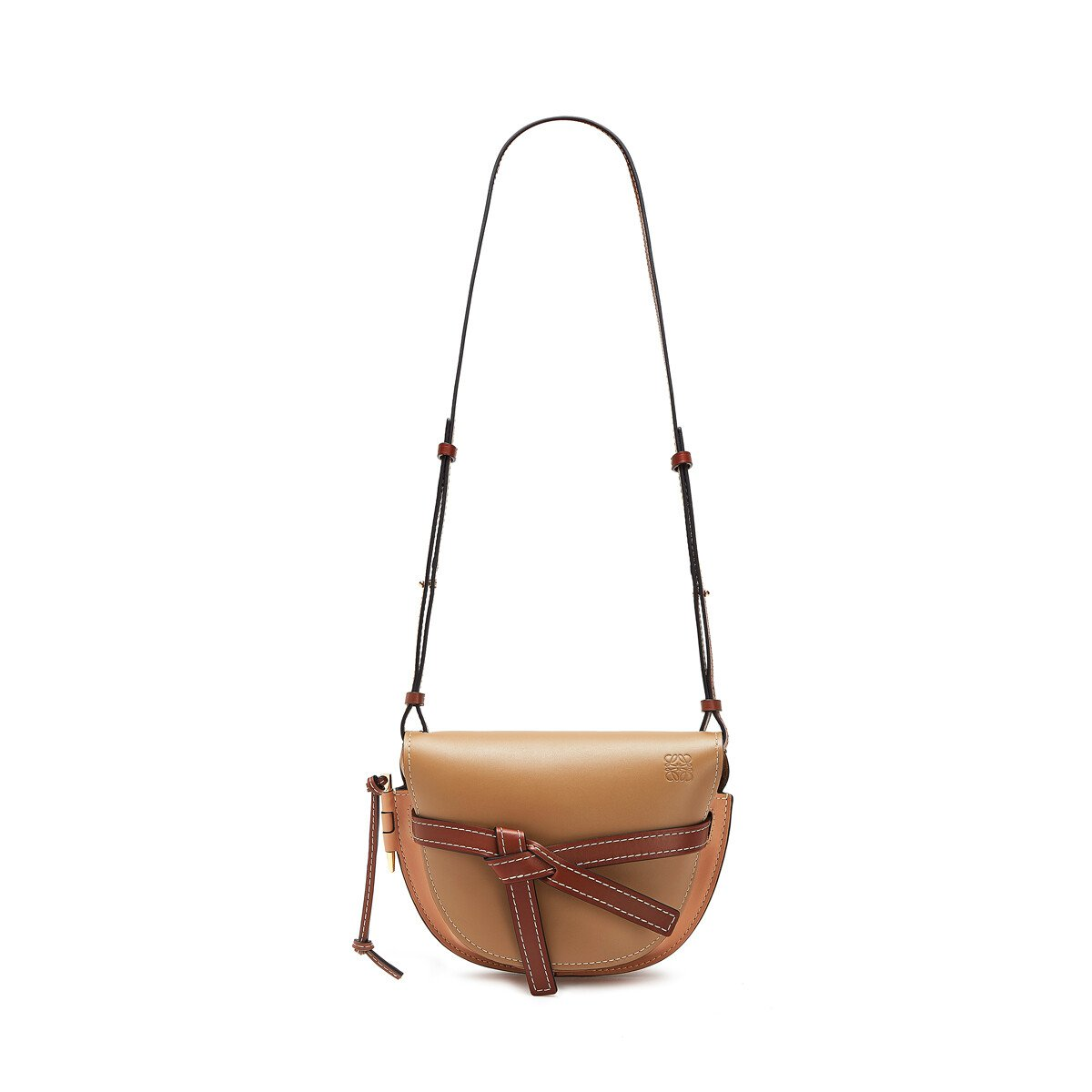 LOEWE Gate Small Bag Mocca/Powder front