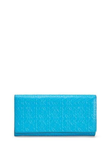 LOEWE Cartera continental en piel de ternera Azul Pavo Real pdp_rd