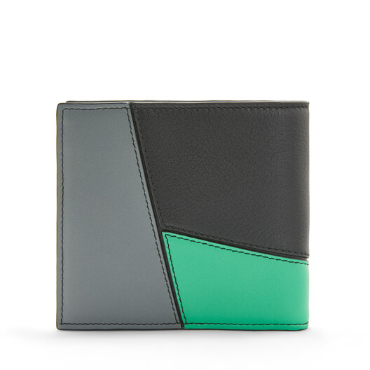 LOEWE Puzzle Bifold/Coin Wallet Deep Blue/Green front