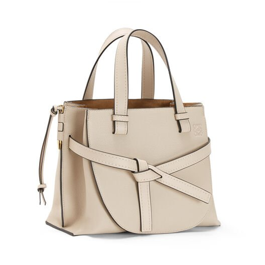 LOEWE Gate Top Handle Small Light Oat  front