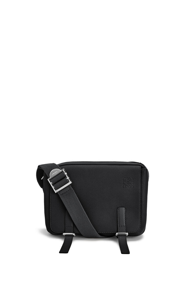 LOEWE XS Military messenger bag in soft grained calfskin Black pdp_rd