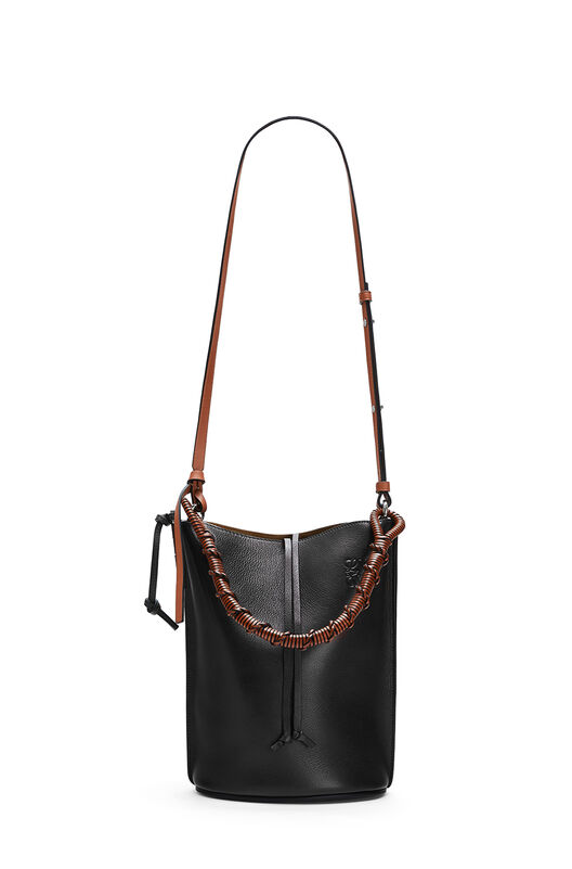 LOEWE Gate Bucket Handle Bag Black front