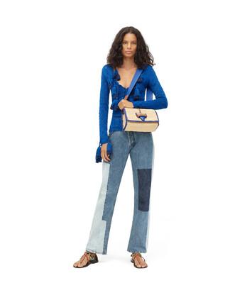 LOEWE Paula Crochet Sweater Azul front