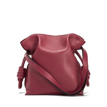 LOEWE Flamenco Knot Bag 覆盆莓色 front