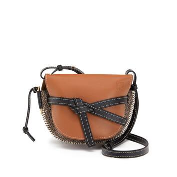 LOEWE Gate Tweed Small Bag Tan front