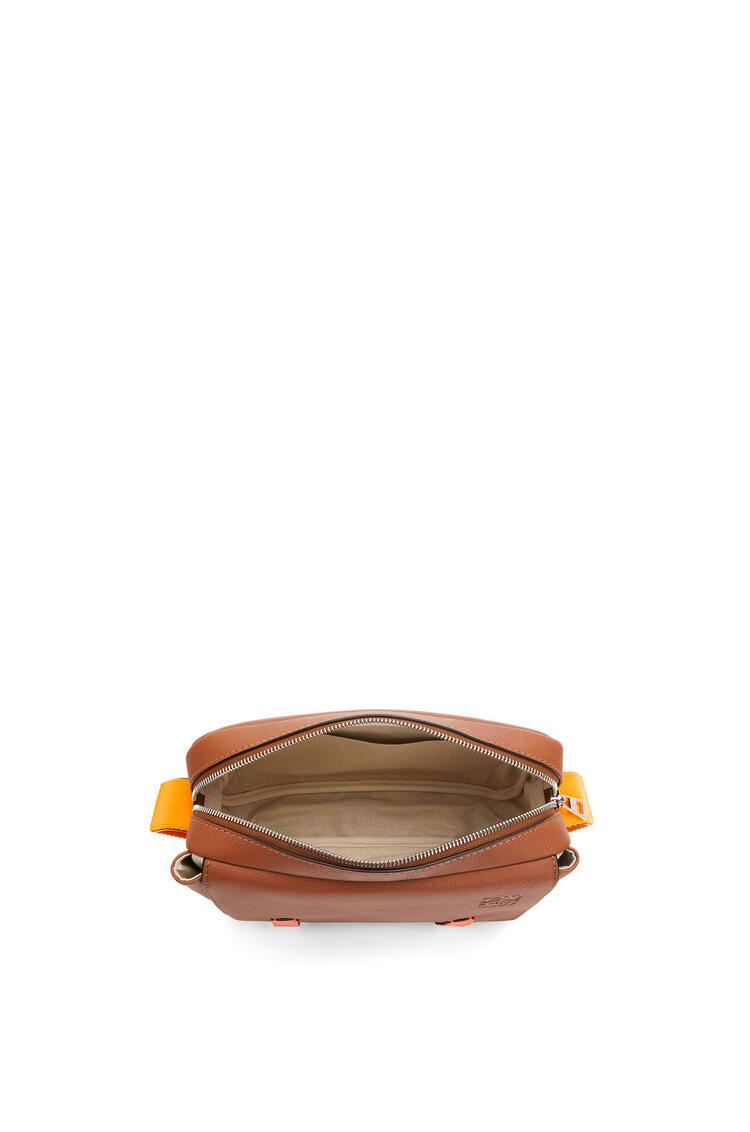 LOEWE Xs Military Messenger Bag In Soft Grained Calfskin Tan/Neon Orange pdp_rd