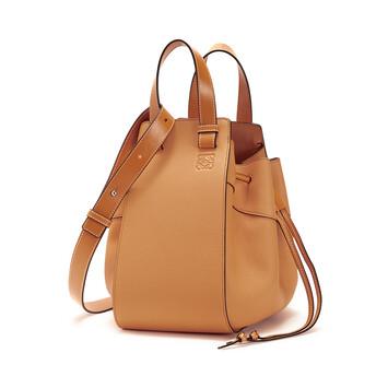 LOEWE Hammock Drawstring Medium Bag Light Caramel front