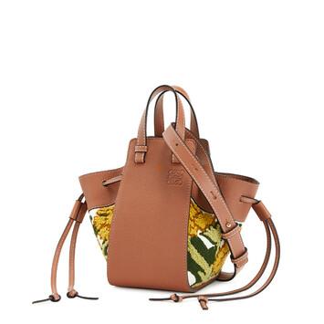 LOEWE Hammock Drawstring Floral Mini Bag イエロー front