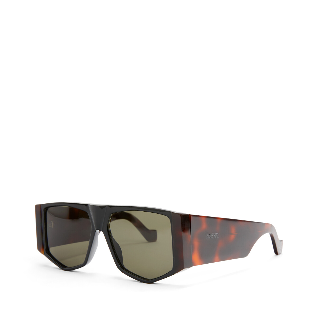 LOEWE Acetate Mask Sunglasses Havana/Green front
