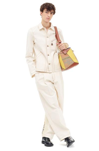 LOEWE Denim Trousers Botanical White front