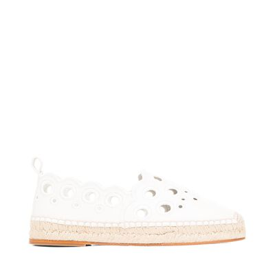 LOEWE Espadrille Broderie White front