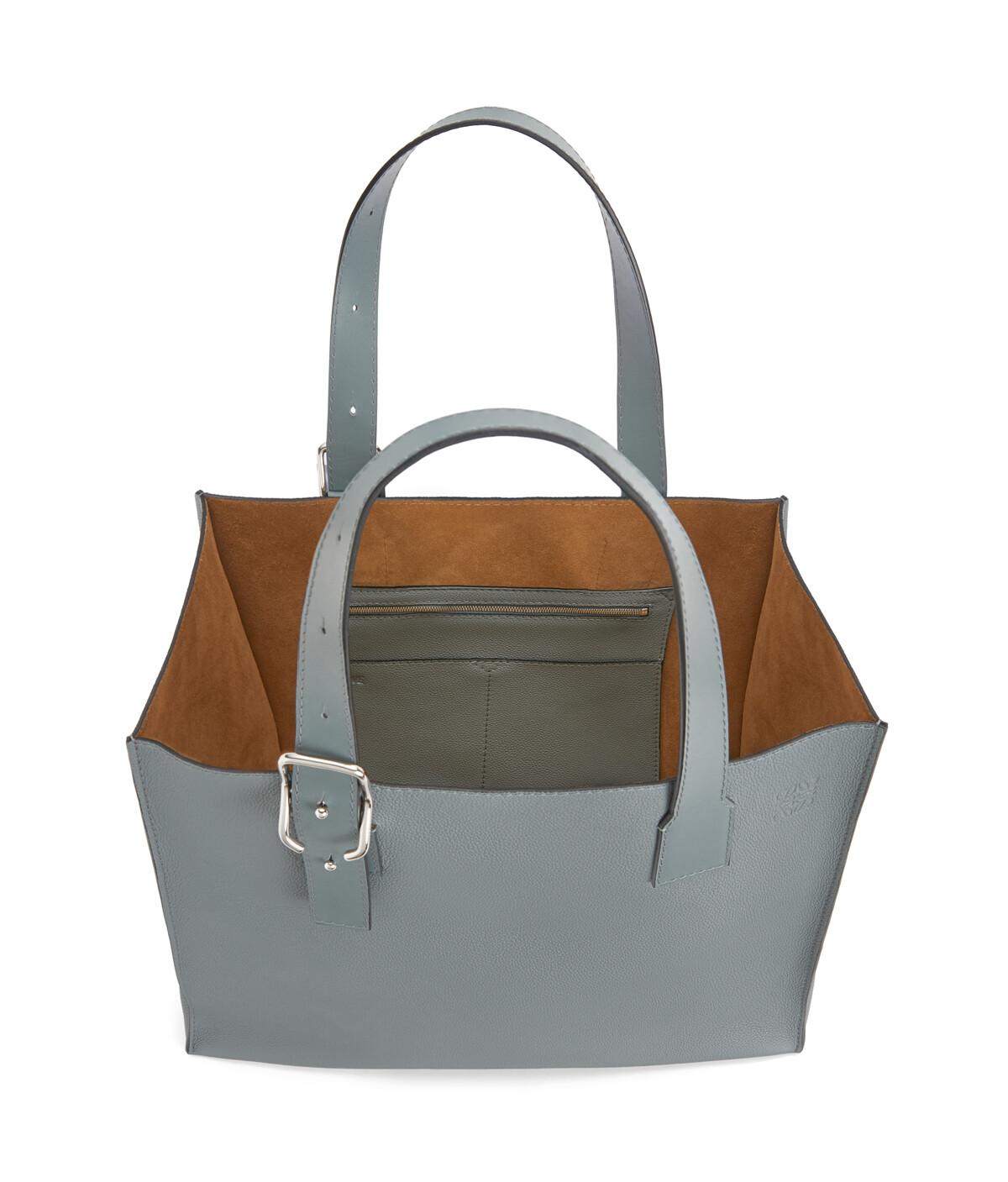 LOEWE Buckle Tote Bag 鐵灰 front