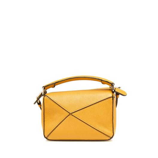 LOEWE Puzzle Mini Bag Yellow Mango front