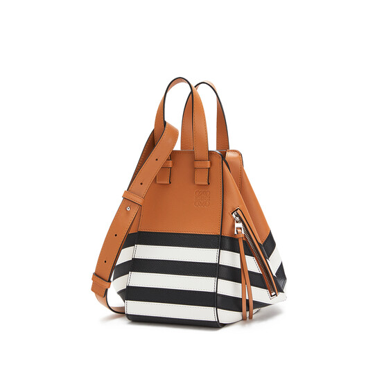 LOEWE Hammock Marine Small Bag Black/White front