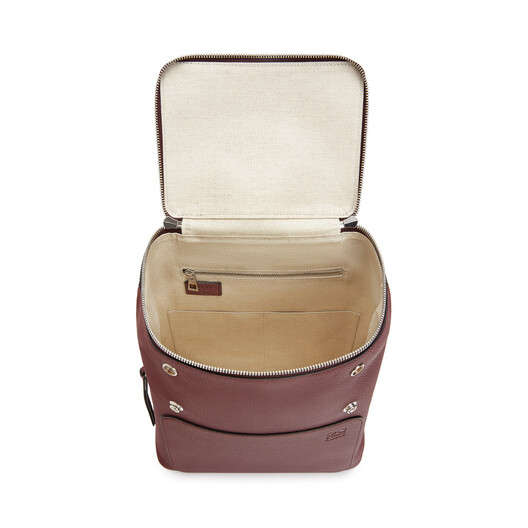 LOEWE Goya Small Backpack Wine front