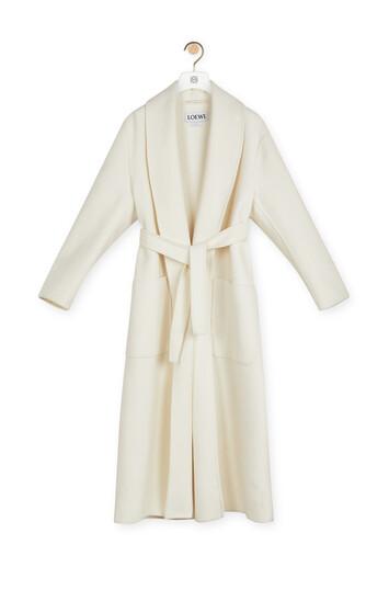 LOEWE Robe Coat Off-White front