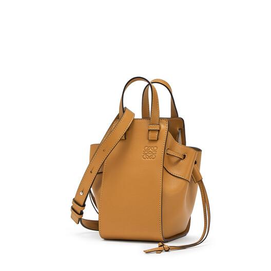 LOEWE Hammock Drawstring Mini Bag Light Caramel front