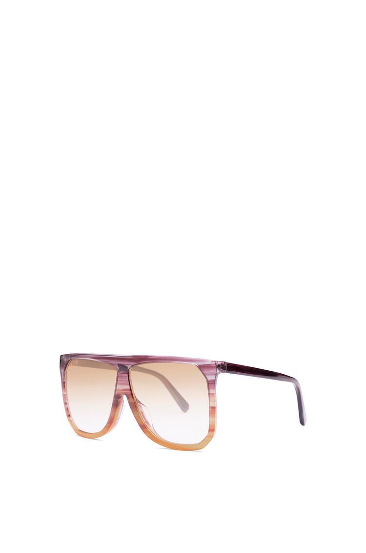 LOEWE Filipa Sunglasses in acetate Plum/Orange/Gradient Yelow pdp_rd