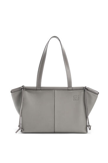 LOEWE Small Cushion Tote bag in soft grained calfskin Smoke pdp_rd