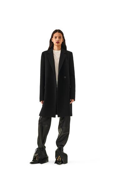 LOEWE Wrap Coat In Wool And Cashemere Black pdp_rd