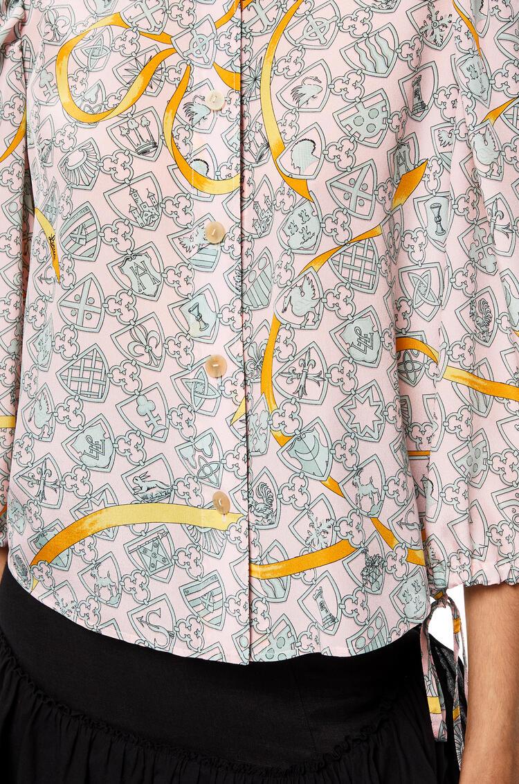 LOEWE Oversize blouse in shield silk Pink pdp_rd