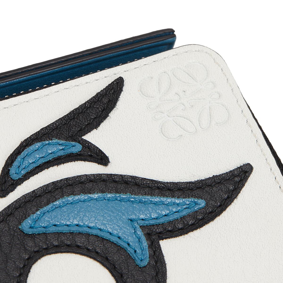 LOEWE Coin Card Holder Cowboy Black/Light Blue front