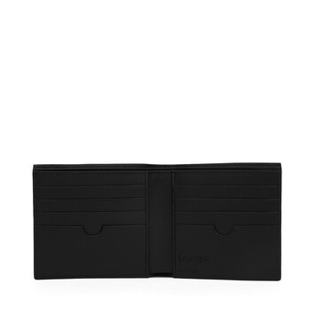 LOEWE Linen Bifold Wallet Negro front