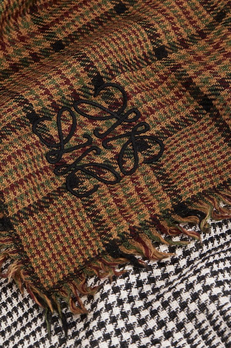 LOEWE 180 x 220 cm羊绒和真丝双层围巾 Toffee/Grey pdp_rd