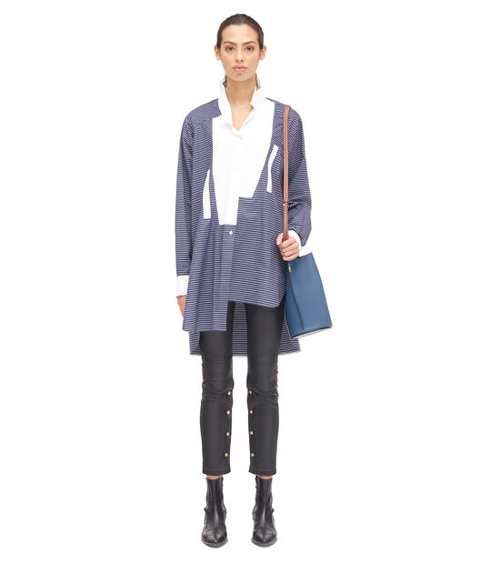 LOEWE Long Stripe Asymmetric Shirt Azul/Blanco all