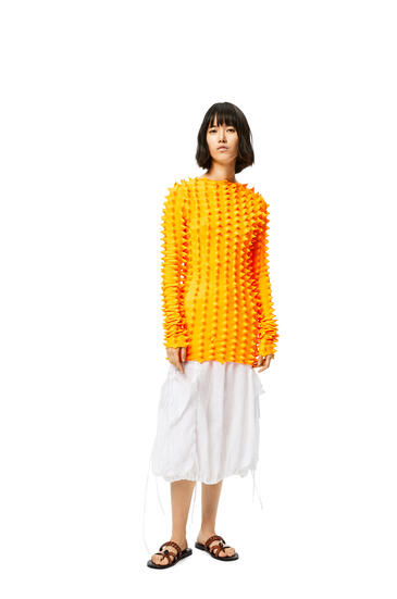 LOEWE 3D knitted sweater in polyester Neon Orange pdp_rd