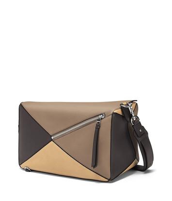 LOEWE Puzzle Xl Bag Dark Taupe/Desert front