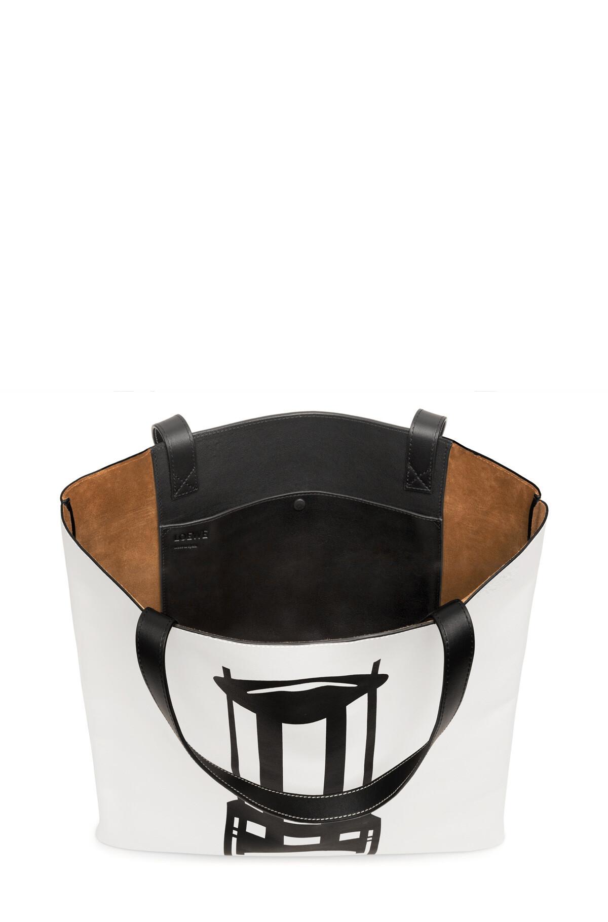 LOEWE Vertical Tote Chair Large Bag White/Black front