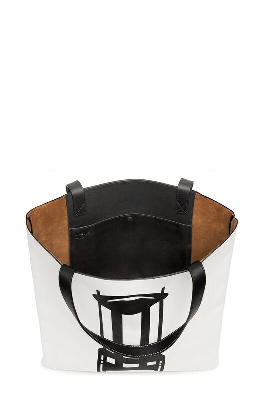 LOEWE バーティカルトートチェアーラージバッグ ホワイト/ブラック all