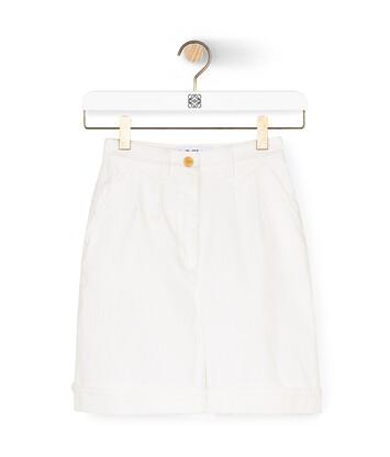 LOEWE 短裤 白色 front