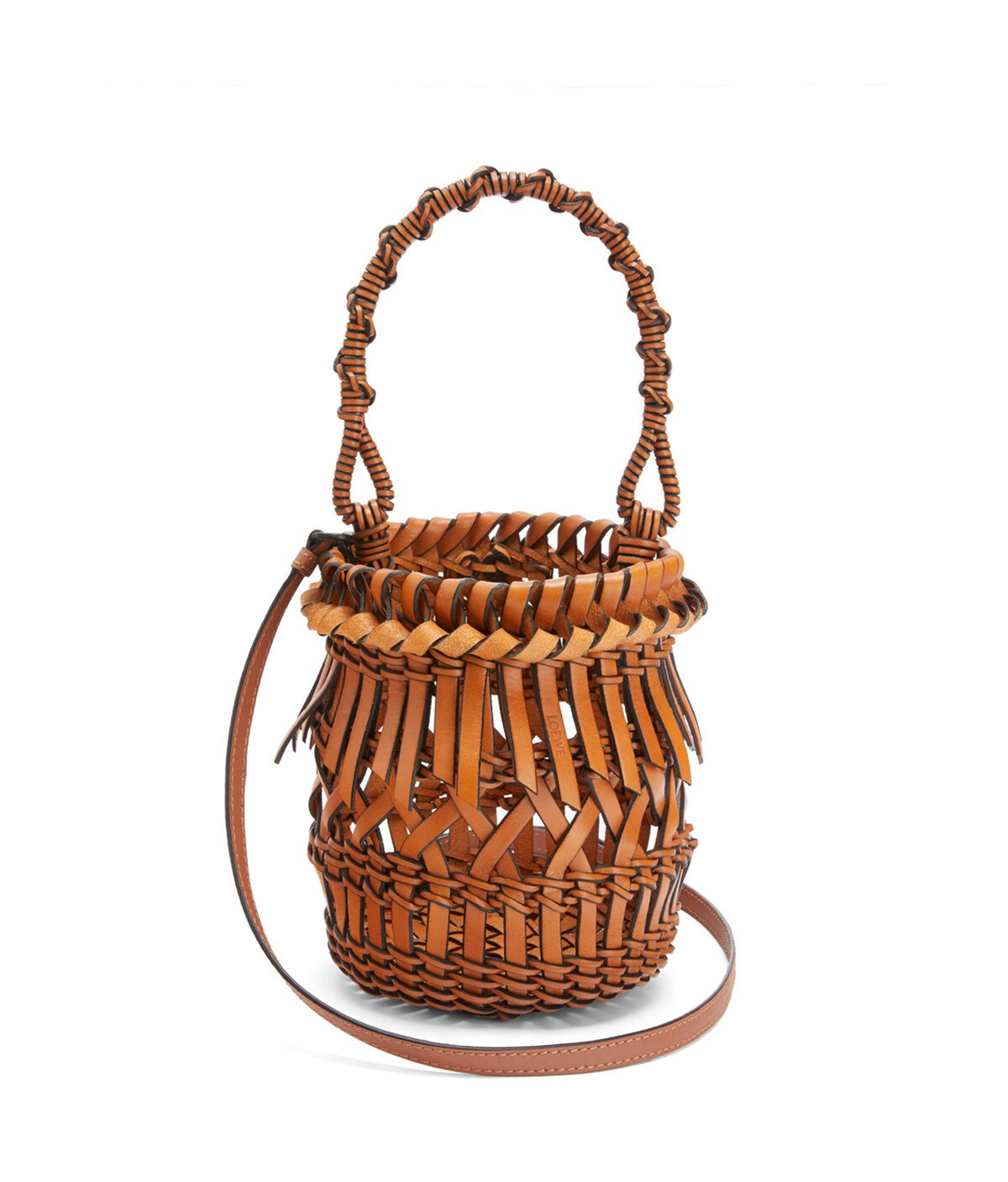 LOEWE Bucket Fringes Small Tan front