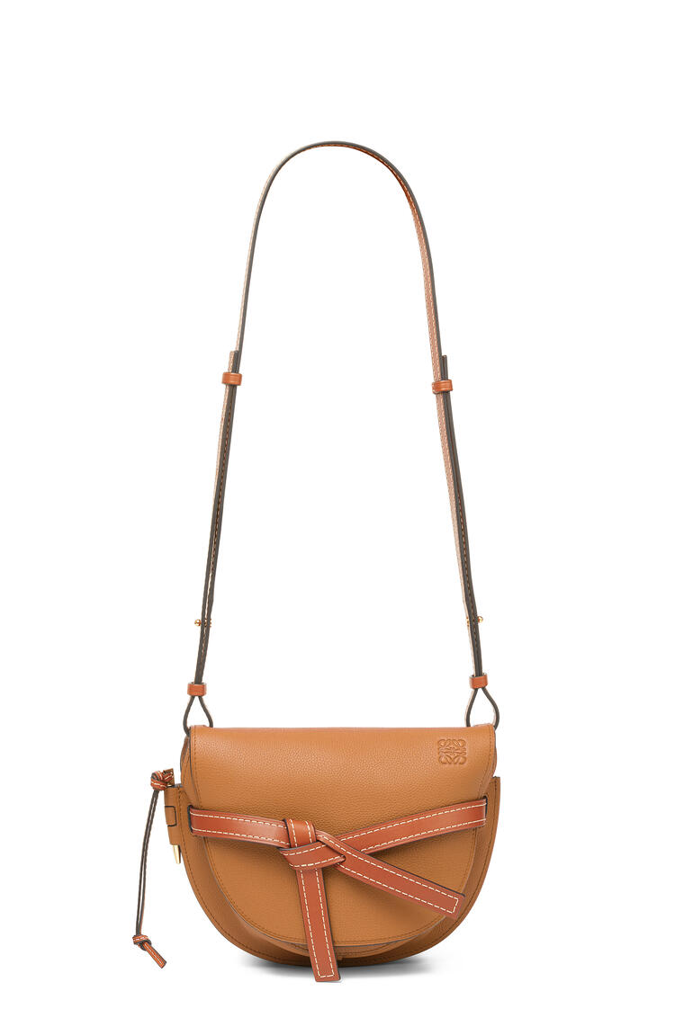 LOEWE Small Gate bag in soft grained calfskin Light Caramel/Pecan pdp_rd