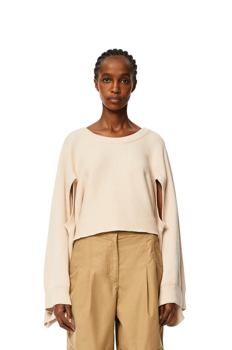 LOEWE Cut-out sweater in cotton Beige pdp_rd