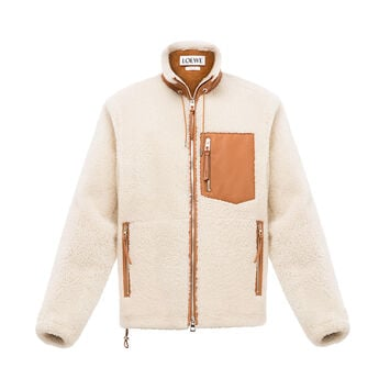 LOEWE Shearling Blouson Off-White front