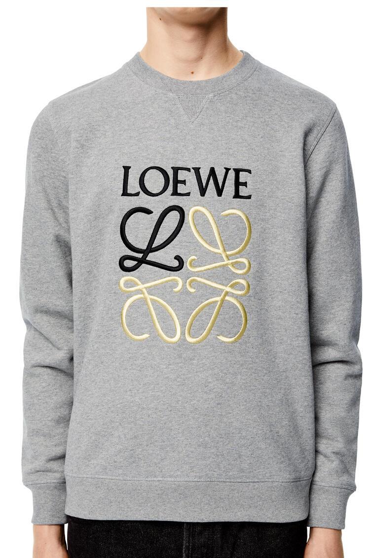 LOEWE Sudadera en algodón con Anagrama Gris Melange pdp_rd