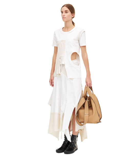 LOEWE Patchwork Jersey Top Blanco/Beige all