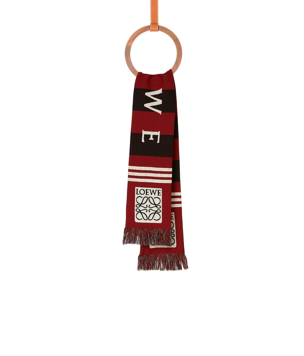 LOEWE 17X120 Loewe提花围巾 红色 front