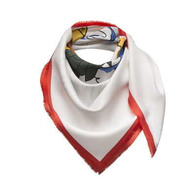 LOEWE 90X90 Scarf Holiday Blue/White front